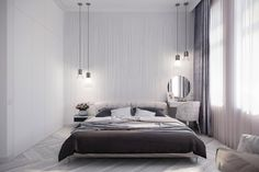 Apartment for Julia on Behance Elegant Woman, Home Interior, Bedroom, Architecture, Modern, House, Furniture, Design Room, Home Decor