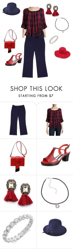 """Red Plaid Casz!"" by audkoppe on Polyvore featuring Alfani, Beach Lunch Lounge, WithChic, Napier and Charter Club"