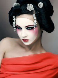 Geisha Makeup Ideas | Makeup Ideas for Halloween Photos