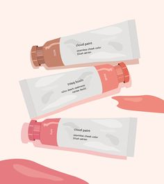 Glossier Illustration Series on Behance Japon Illustration, Digital Illustration, Graphic Illustration, Makeup Illustration, Beauty Illustrations, Illustrations Posters, Aesthetic Art, Aesthetic Pictures, Aesthetic Anime