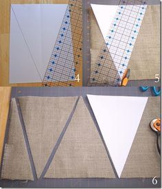 cutting #burlap--this looks like a winner!!! #bunting