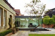 idée d'agrandissement de maison moderne en verre
