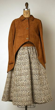 Suit, Bonnie Cashin, F/W 1970-71, leather and wool
