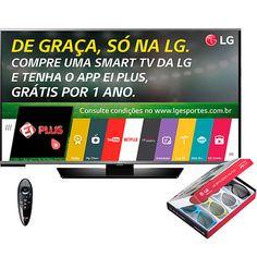 "Sou Barato Smart TV LED 3D 42"" LG 42LF6400 Full HD com Conversor Digital - R$1529"