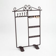 Buy A Black Jewellery Display For Counter Tops From The Display Centre Jewellery Displays, Earring Hole, Black Jewelry, Counter Tops, Centre, Storage, Furniture, Home Decor, Countertops