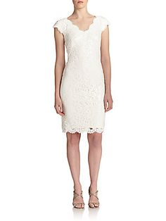 Tadashi Shoji Sequined Lace Shift Dress