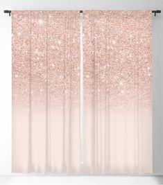 Rose gold faux glitter pink ombre color block by Girly Trend by Audrey Chenal #blackout #curtain #home #decor #ideas #interior #design #girly #style #rose #pink #color Blackout Windows, Blackout Curtains, Ombre Color, Pink Color, Buy Roses, Curtain Rods, Girly, Rose Gold, Glitter