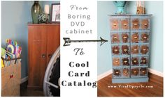 Vintage Card Catalog Furniture Look ~ Viral Upcycle