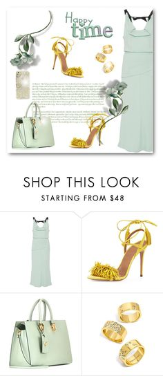 """""""Mint & yellow"""" by bliznec ❤ liked on Polyvore featuring Roland Mouret, Aquazzura, Valentino, BaubleBar and Sonix"""