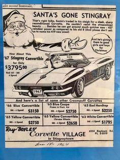 Vintage Corvette ad - Auto Show 2020 Old Corvette, Chevrolet Corvette Stingray, Corvette Summer, Classic Corvette, Chevy Classic, Chevrolet Impala, Old Advertisements, Car Advertising, Us Cars
