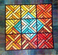 Fractured Paint Box, Quiltworx.com, Suzie Wilkins Wilhelm