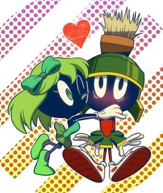 Martian in Love... ...follow Marvin at http://marvin-martian.weebly.com #heart #love