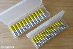 無印良品のポリプロピレンペンケースを使った乾電池収納 ー 乾電池のおしゃれな収納方法のブログ画像