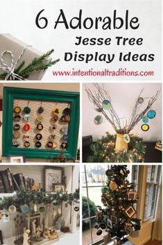 6 Adorable Ways to Display your Jesse Tree – Intentional Traditions All Things Christmas, Christmas Holidays, Christmas Crafts, Christmas Decorations, Holiday Decor, Xmas, Preschool Christmas, Christmas Activities, Christmas Signs