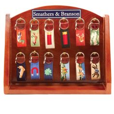 Sporting Needlepoint Key Fobs - Accessories
