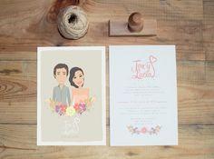 (Foto 8 de 12) Invitación de boda e ilustración realizada por La Fabrica de Mariana, Galeria de fotos de Tendencias en bodas: ¡La personalización es un aspecto fundamental!