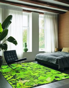 8ef7676a Kaleidoscope Hortus 16907 Rugs by Brink & Campman are woven on axminster  looms with a beautiful, green leaf design. The soft, Wool pile is durable,  ...