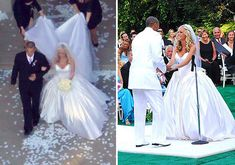 Kendra Wilkinson co-designed her wedding dress with Armine Ohanessian of R. Mine Bridal. The gown was made of duchesse-silk and covered with 1,200 crystals