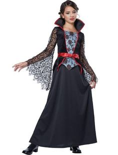 Countess Bloodthorne Girls Vampire Costume by California Costumes Girls Vampire Costume, Vampire Costumes, Vampire Girls, Vampire Queen, Oktoberfest Outfit, Queen Halloween Costumes, Girl Costumes, Scary Costumes, Vegas