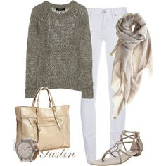 open knit sweater, created by gustinz.polyvore.com