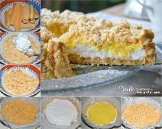 Sbriciolata con panna e crema pasticcera
