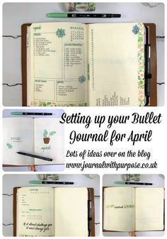 Looking for bullet journal inspiration for April? Head on over to the blog today.