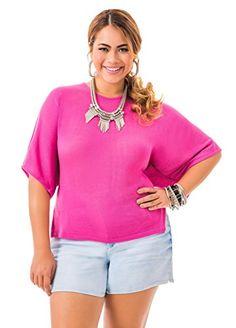 Fashion Bug Women's Plus Size Twist Back #Sweater www.fashionbug.us #PlusSize #FashionBug