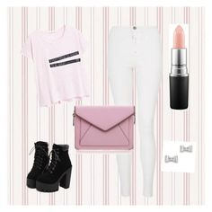 """""""Untitled #5"""" by lien-nguyenova on Polyvore featuring MAC Cosmetics, Quiz, Rebecca Minkoff, MANGO, Marc by Marc Jacobs, women's clothing, women's fashion, women, female and woman"""
