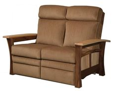 Amish Shaker Gateway Recliner Loveseat Amish made in choice of wood, finish and upholstery. Family Room Furniture, Furniture Making, Shaker Style Furniture, Quarter Sawn White Oak, Chandelier In Living Room, Living Room Seating, Mortise And Tenon, Furniture Collection, Walnut Wood