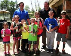 The Lackawanna County Commissioners presented trophies to the winners in the 4 – 8 years-old category of the 23rd annual fishing derby held at McDade Park. Over 110 youngsters participated in the event.