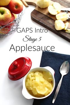 GAPS Intro Stage 5 Applesauce - Health, Home, & Happiness Pizza Recipes, Paleo Recipes, Cored Apple, What Can I Eat, Gaps Diet, Food Intolerance, Recipe Notes, Food Print, Vegan