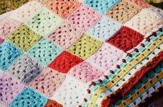 Gaint Granny Patch Blanket made by Rajeswari. Info on pattern and border in her post.