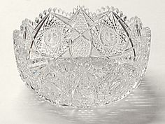 large Elmira cut glass bowl w/star of David - I broke one like this from my great-grandmother on Thanksgiving Day in sad Antique Dishes, Antique Glassware, Antique Shops, Vintage Dishes, Cut Glass, Glass Art, Crystal Glassware, Clear Crystal, Clear Glass