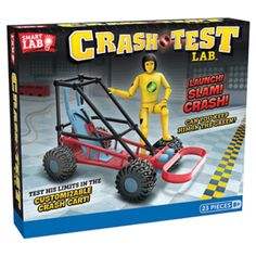 The Crash Test Lab is a fun and a great way to learn physics. Comes with an electronic sensor that measures the force of the crash. Learn Physics, Crash Test Dummies, Engineering Toys, Best Gifts For Tweens, Newtons Laws, Tween Girl Gifts, Buy Toys, Science Kits, Roll Cage