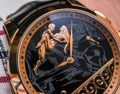 """Ulysse Nardin Hourstriker Erotica Jarretiere Watch Hands-On - by Rob Nudds - yes, those figures also """"move"""" ...See & read more on aBlogtoWatch.com """"It's not often I struggle to get excited about watches; it's rarer still I find it this easy! In all seriousness, the Ulysse Nardin Hourstriker Erotica Jarretiere watch is not the kind of watch I would normally go in for. I've nothing against erotic watches in theory, but historical examples have always been a bit too flamboyant and crude..."""""""