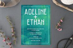 Printable Wedding Invitation // Watercolour Wedding // Wedding Invitation // Digital // Watercolour Wedding Invite // Green // DIY template