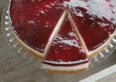 Cheese cake med et strejf af brombær