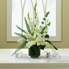 Large wedding pedestal flower arrangement   Floral arrangements ...