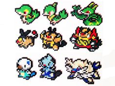 Pokemon Perler Generation 5 Starters Choose 1 by ShowMeYourBits