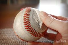 Baseball Bracelet - Life in Left Field Gifts For Baseball Players, Baseball Gifts, Baseball Bracelet, Yard Games, Unusual Jewelry, Sewing Tutorials, Patterns, Bracelets, Crafts