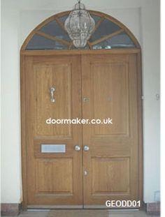 lpd external oak veneer empress zinc patterned double glazed door pair x x 44mm doors