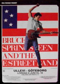 #BruceSpringsteen and the #EStreetBand, #Ullevi, #Gothenburg, #1985