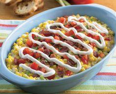 Cheesy Creamed Corn with Tomato and Bacon - Daisy Brand