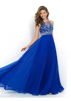 Bateau Sleeveless Prom Dresses/Evening Dresses With Rhinestone #QA824
