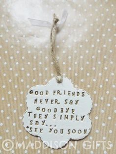 Friends Farewell Hanging Gift Card Alternative Home Decor Leaving Present
