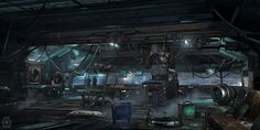Star citizen - Asteroid hangar control room, Nicolas Ferrand on ArtStation at http://www.artstation.com/artwork/star-citizen-asteroid-hangar-control-room