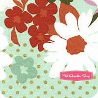 Mustang Mint Sparkle Flower Yardage SKU# 0002-01