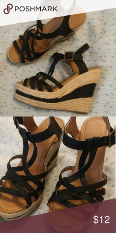 Wedges Very cute, like new wedges unknown Shoes Wedges