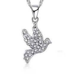 Dove Pendant  Set With Cubic Zirconia Stones- Jewellery 2017, Silver Jewellery Online, Dove Set, Pendant Set, Confirmation, Sterling Silver Pendants, Clip On Earrings, Stones, Women Jewelry