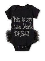Little lack dress onesie idea